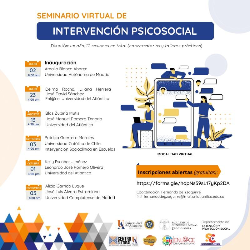 Nuevo seminario de intervención psicosocial con talleres de SOCIOCARIBE.